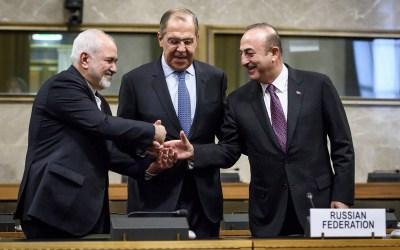 بيان مشترك روسي تركي إيراني: سنساعد اللجنة الدستورية السورية على إجراء أول جلسة