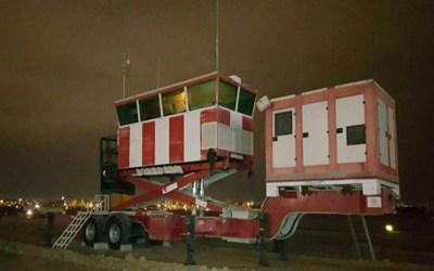 وزارة الدفاع الايرانية تزيح الستار عن برج مراقبة جوية متنقل