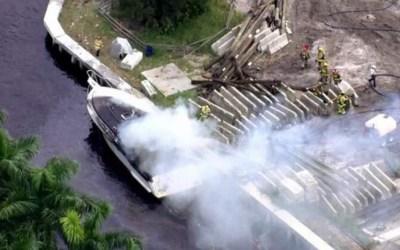 السلطات الأميركية: إصابة 13 شخصاً بانفجار زورق بولاية فلوريدا