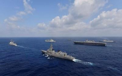 أكبر مناورات بحرية مشتركة بين الهند والولايات المتحدة واليابان وأستراليا