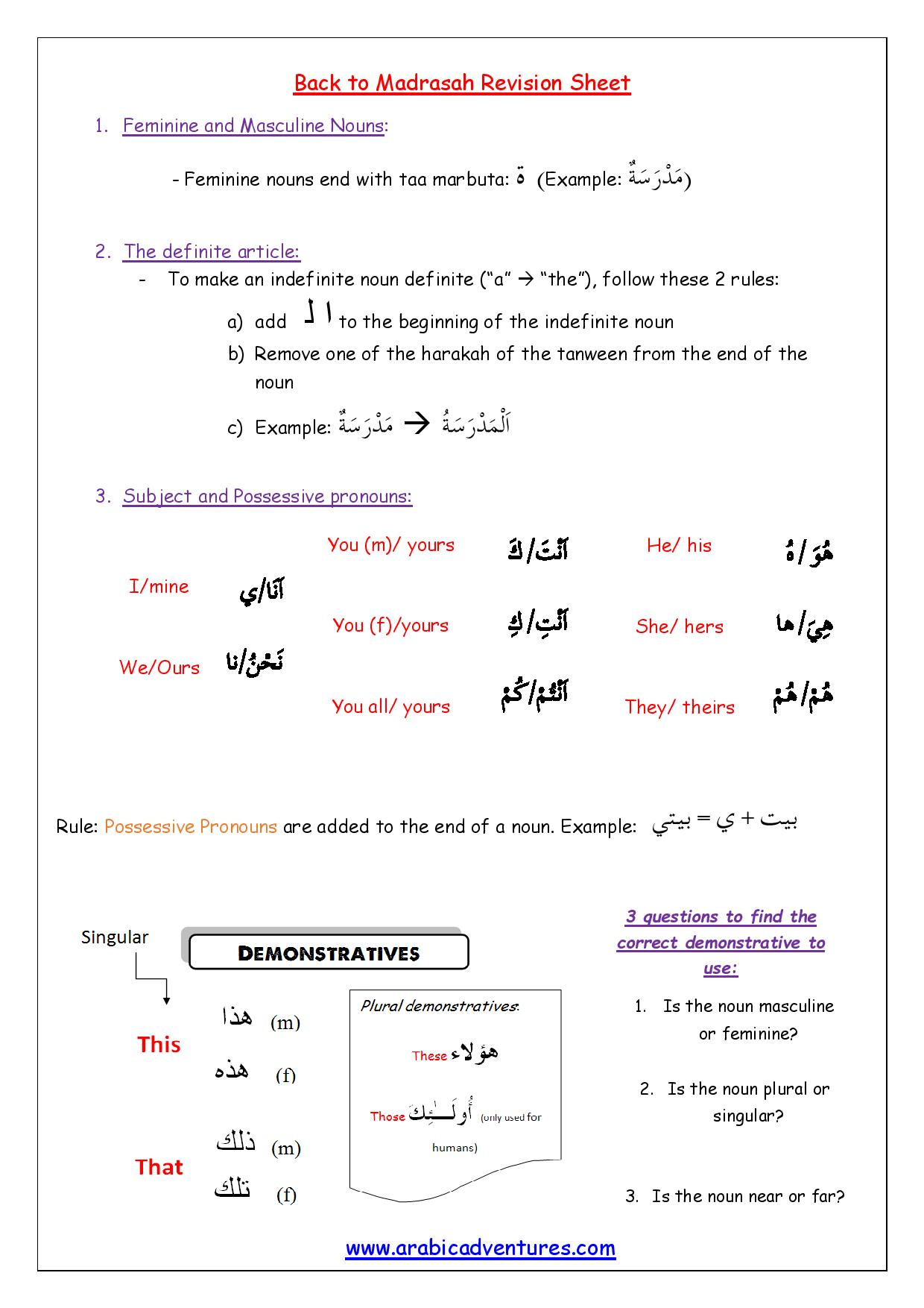 Demonstrative Adjectives Worksheets For 3rd Grade