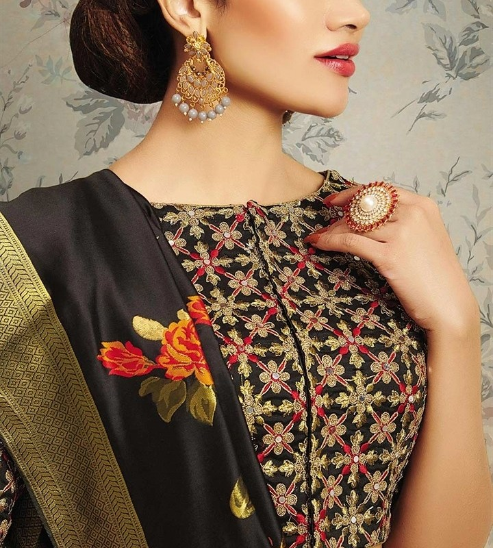 Party Wear Designer Latest Blouse Designs 2019 Front And Back Neck Blouses