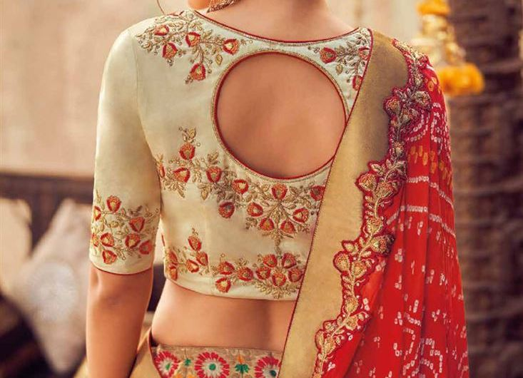Silk Embroidered Designer Latest Blouse Designs 2019 For Lehenga Bridal Collection