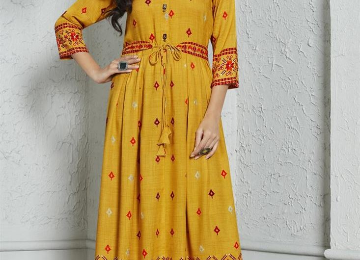 Printed Style Designer Latest Kurti Designs 2019 For Party
