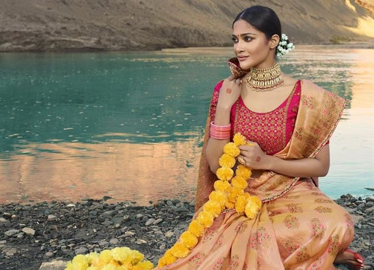 Trending Traditional Saree Designs 2019 New Collection For Engagement
