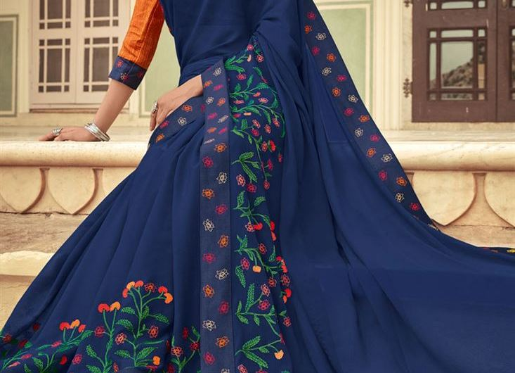 Lace Style Designer Latest Saree Designs 2019 For Girls