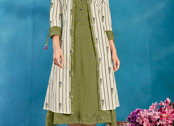 Latest Kurti Design Images Cotton Kurti Designs 2020 With Fancy Jacket For Girls