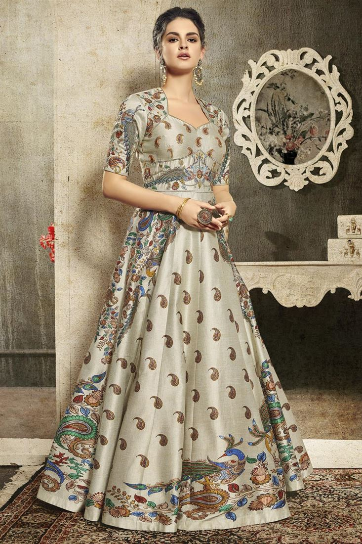 Images Of Gown Style Long Latest Kurti Designs 2020 (4)