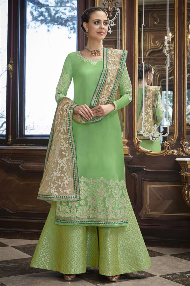 Designer Party Wear Salwar Kameez Designs 2020 Arabic Mehndi Design
