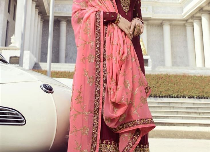 Indian Latest Salwar Kameez Palazzo Suits Designs 2020 In Teal