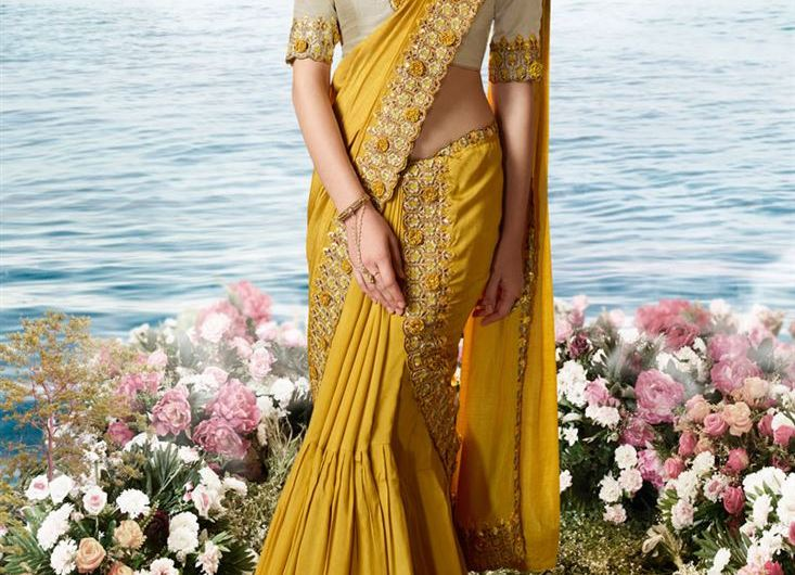 Net Silk Summer Style Occasion Wear New Saree Designs 2020 For Ladies
