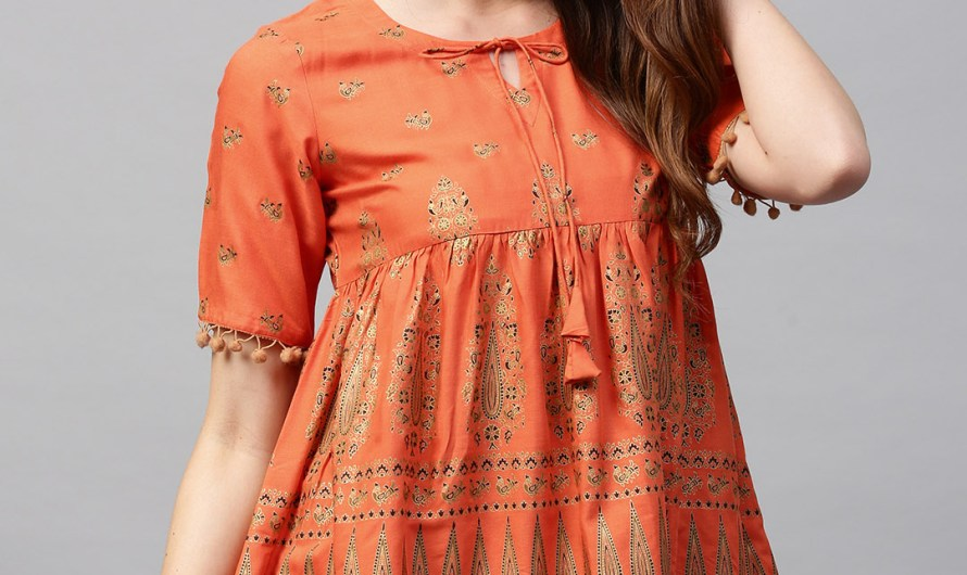 Printed Tunic Top Designs Stylish Indian Kurti Jeans For Ladies 2020