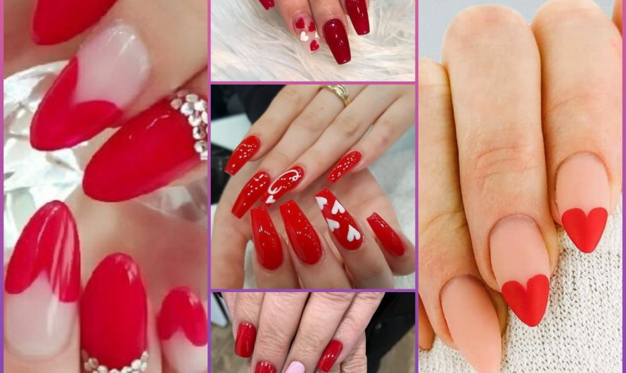 Beautiful Red Heart Bridal Nail Designs 2020 Gallery For Girls