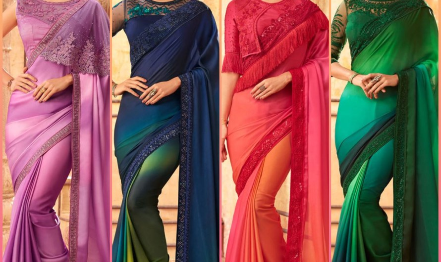Sangeet Wear Designer Colorful Bridal Saree Designs 2020 For Girls