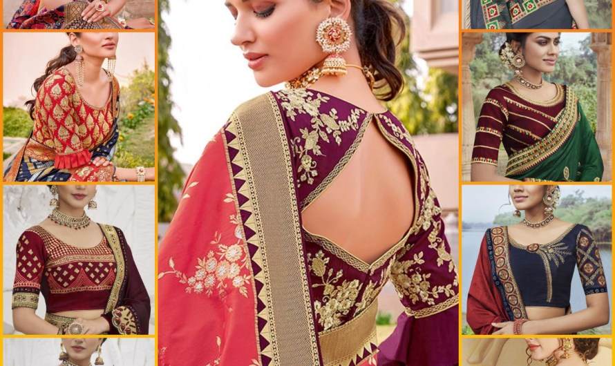 Download Designer Bridal Silk Blouse Designs 2020 Images For Wedding Saree