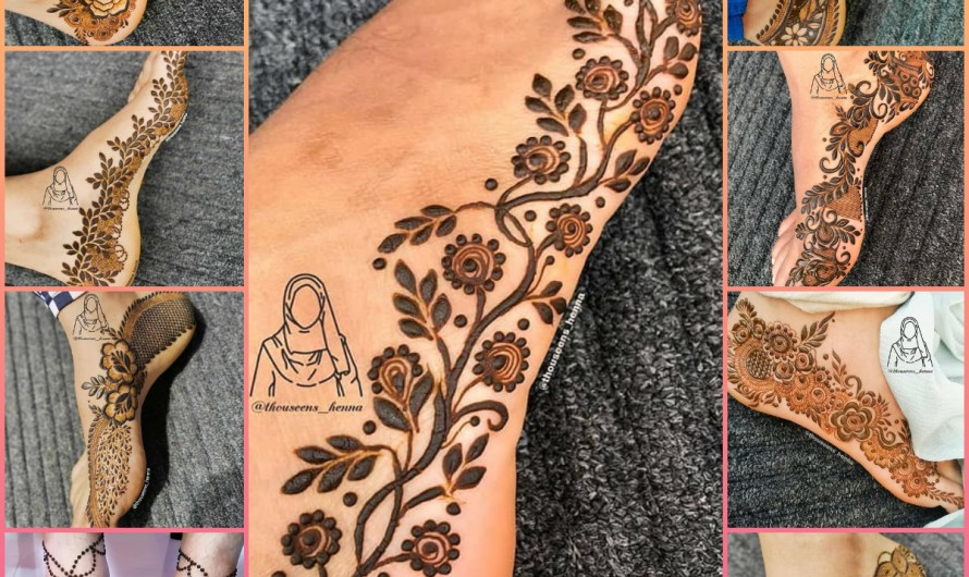 Most Stylish Simple Foot Mehndi Designs 2020 Images For Bridals & Girls