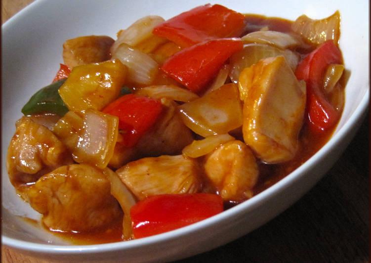 الدجاج الصيني الحامض والحلو طريقة تحضير الدجاج الصيني