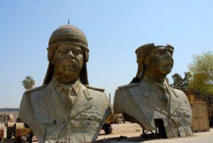 Monumentalkunstwerk für Saddam Hussein