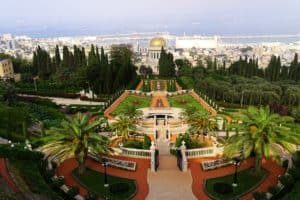 Die Hängenden Gärten der Bahai und der Schrein des Bab