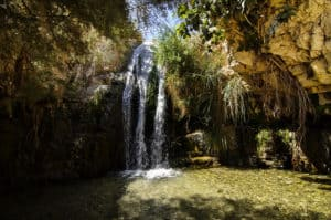 Wasserfall im En Gedi Nationalpark