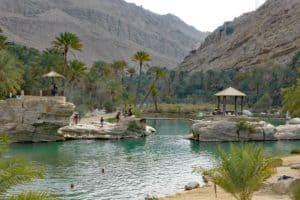 Oase in der Wüste - Wadi Bani Khalid