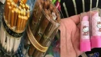 Photo of مستلزمات مدرسية على شكل سجائر ومستحضرات تجميل تثير جدلاً في المغرب
