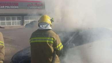 Photo of صور .. دفاع مدني رأس الخيمة يخمد حريق مركبة