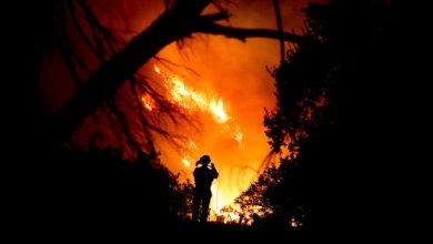 Photo of الرياح تؤجج ثالث أكبر حرائق الغابات بتاريخ كاليفورنيا