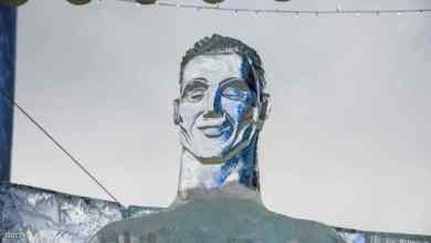 Photo of تمثال من الجليد لكريستيانو رونالدو يثير السخرية