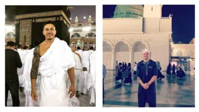 Photo of بطل عالمي شهير يزور الكعبة ويثير تعليقات مختلفة