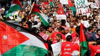 Photo of النقابات المهنية بالأردن تعتصم رفضا لاستيراد الغاز من إسرائيل