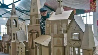 Photo of بعد 65 عاما…يكمل إنشاء مدينة كبيرة من الورق المقوى