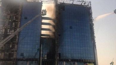 Photo of حريق ضخم في مبنى النيابة العامة في الدمام