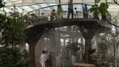 """Photo of حديقة القرآن في دبي.. """"كهف معجزات"""" وبحيرة مشقوقة"""
