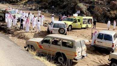Photo of العثور على جثة رجل وزوجته جرفتهما السيول جنوب الطائف