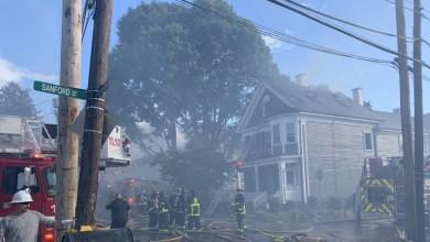 Photo of اندلاع حريق هائل في مدينة بوسطن بالولايات المتحدة
