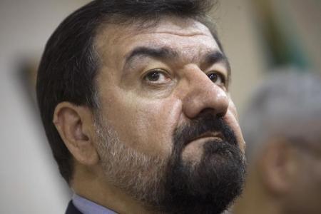 محسن رضائي القائد السابق للحرس الثوري الإيراني في طهران - أرشيف رويترز