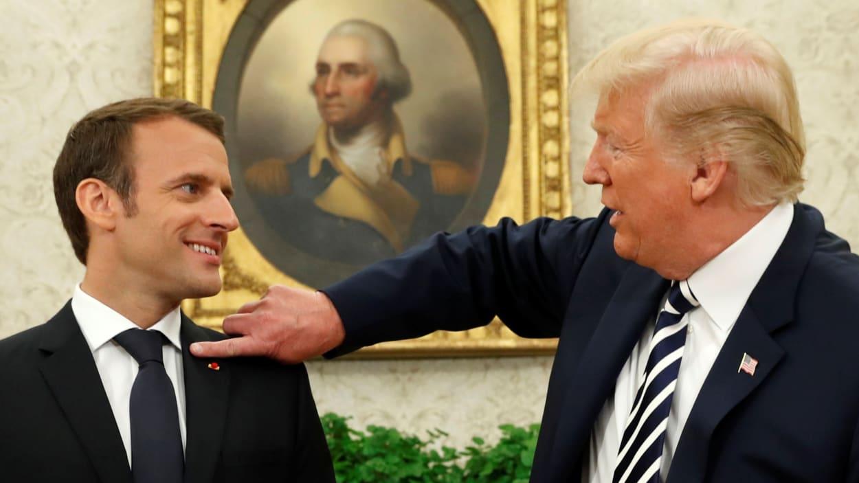 ترامب أبلغ ماكرون أنه سينسحب من الاتفاق النووي