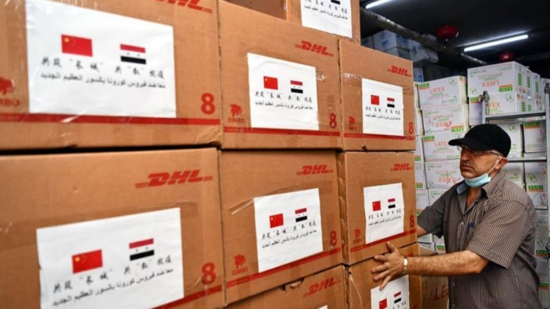 """الصين تسلم دمشق دفعة جديدة من المساعدات الطبية لمواجهة """"كوفيدـ19"""""""
