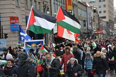 57 هيئة فلسطينية من أميركا وكندا: نشهد شجاعة الشعب الفلسطيني