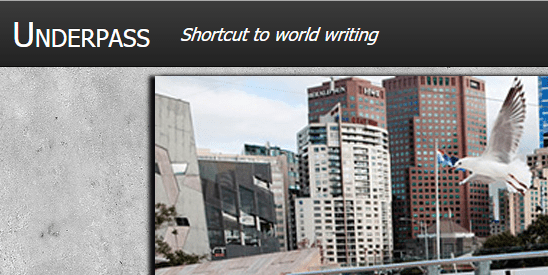 Sunday Submissions: 'Underpass,' a New Journal for Literary Translations
