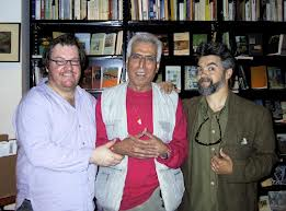 Saadi Youssef at center, with Antoon and Money.