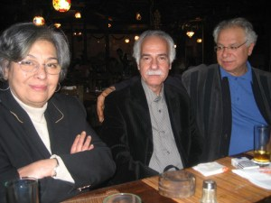 Another photo from the author's website; with novelist Radwa Ashour and poet Mourid Barghouti.
