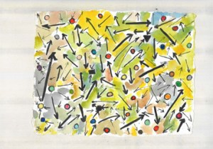 Painting by Etel Adnan