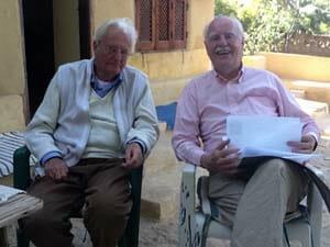 With pioneer Arabic-English translator Denys Johnson-Davies.