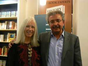 Marilyn Booth with Palestinian novelist Ibrahim Nasrallah.