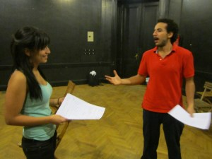 Auditions for Taxi. From the Thousand Toungues website.