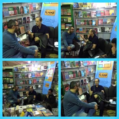 Egyptian publisher Sherif Bakr and Palestinian novelist Raba'i al-Madhoun. Stolen off Bakr's Facebook.