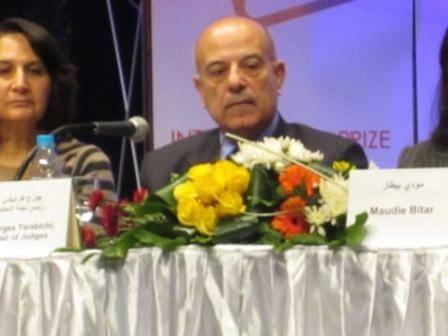 Tarabichi at the 2012 IPAF shortlist announcement in Cairo.