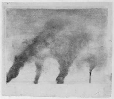 Edgar Degas, Factory Smoke, ca. 1877–79